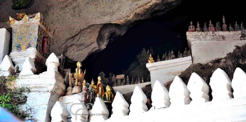 grotte santuari di Tham Ting e di Tham Poum