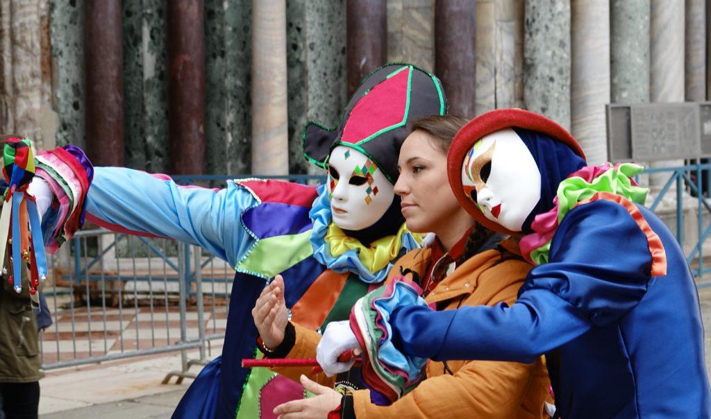 selfie al carnevale di venezia