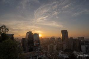 santiago-del-cile-tramonto